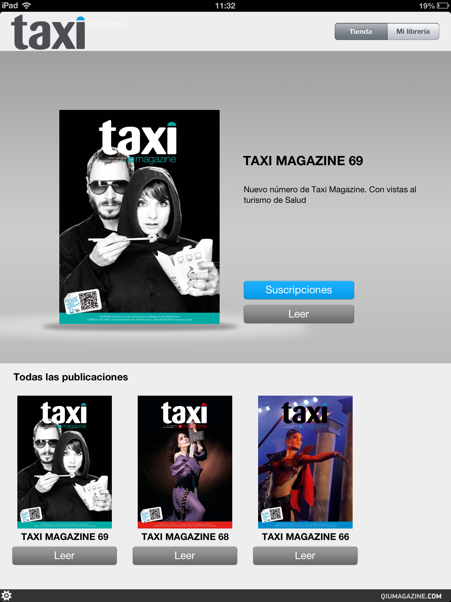 Revista digital para iPad Taxi Magazine